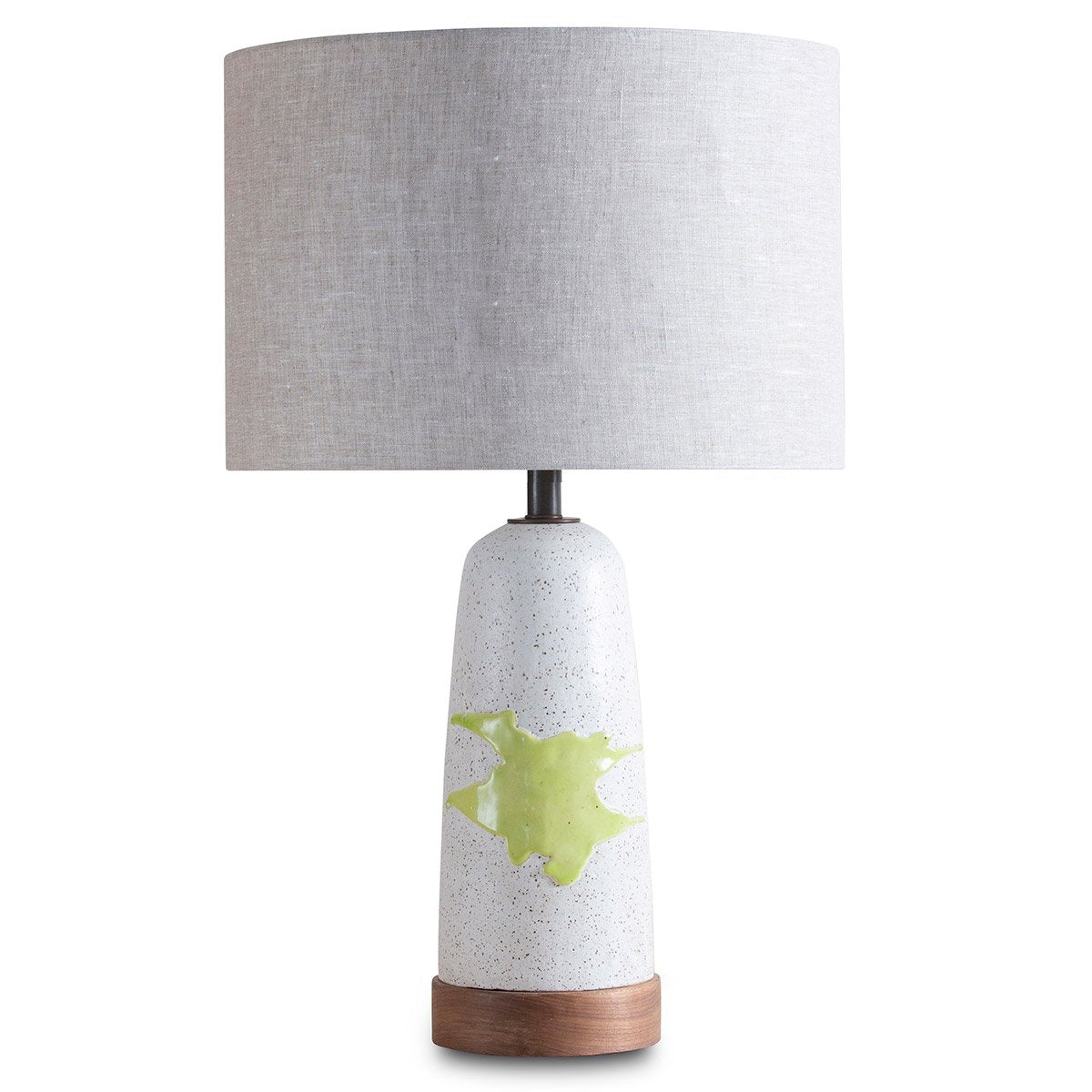 "Citrus Green ""Splat"" Table  Lamp"