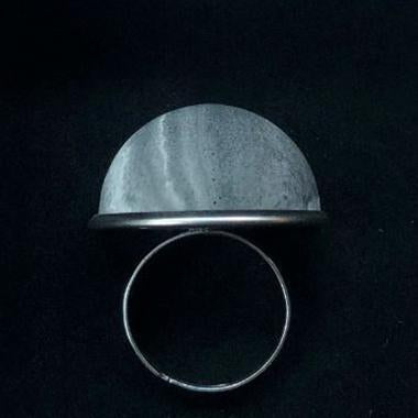 "Concrete ""Adel"" Ring Graphite Grey Eleish Van Breems Home"