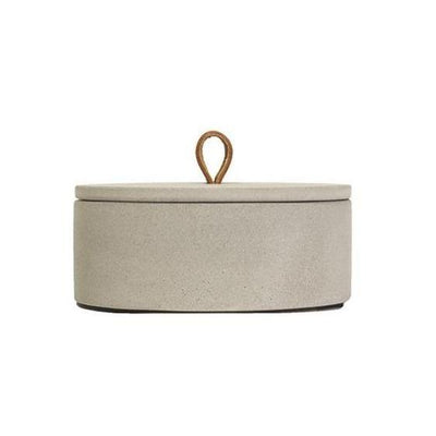 Concrete Large Leather Loop Box Eleish Van Breems Home