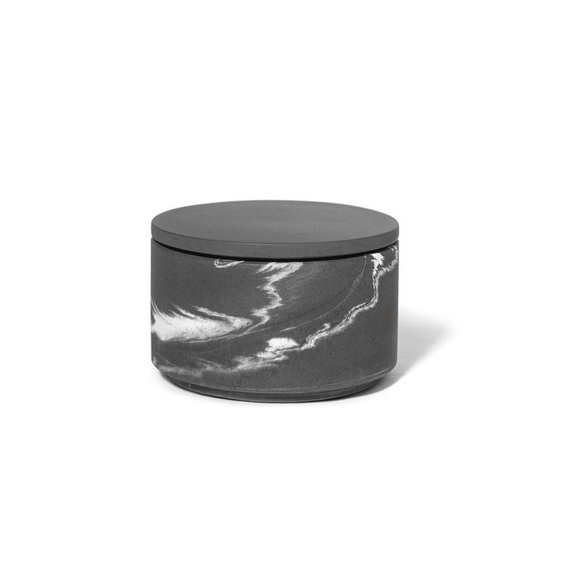 Concrete Small Marbled Box Graphite Grey and Light Marbled Eleish Van Breems Home