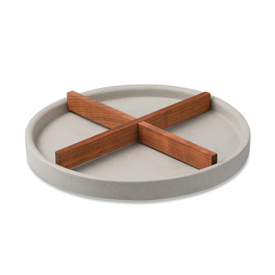 Concrete Tray with Wooden Stick Eleish Van Breems Home
