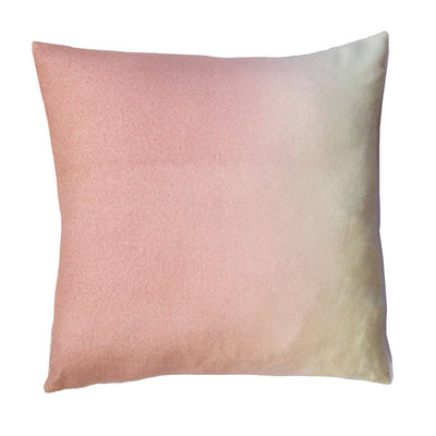 Dip-Dyed Alpaca Square Pillow Dusty Rose Eleish Van Breems Home