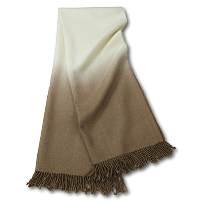 Dip-Dyed Alpaca Throw Camel Eleish Van Breems Home