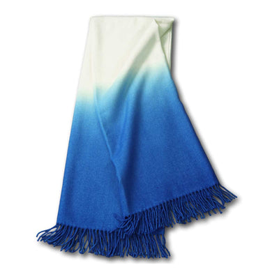 Dip-Dyed Alpaca Throw Cobalt Eleish Van Breems Home