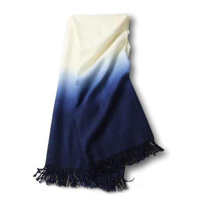 Dip-Dyed Alpaca Throw Indigo Eleish Van Breems Home