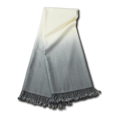 Dip-Dyed Alpaca Throw Light Grey Eleish Van Breems Home