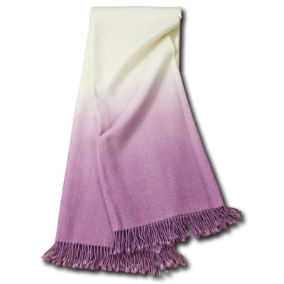 Dip-Dyed Alpaca Throw Lilac Eleish Van Breems Home