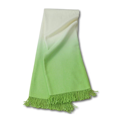 Dip-Dyed Alpaca Throw Pistachio Eleish Van Breems Home
