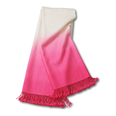 Dip-Dyed Alpaca Throw Tulip Pink Eleish Van Breems Home