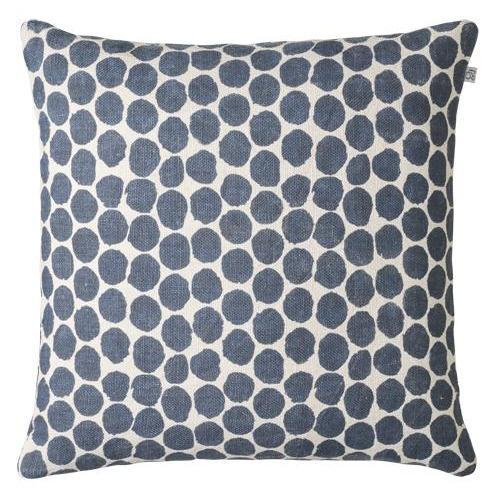 Dot Ari Blue Linen Pillow