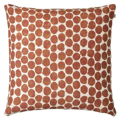 Dot Ari Orange Linen Pillow