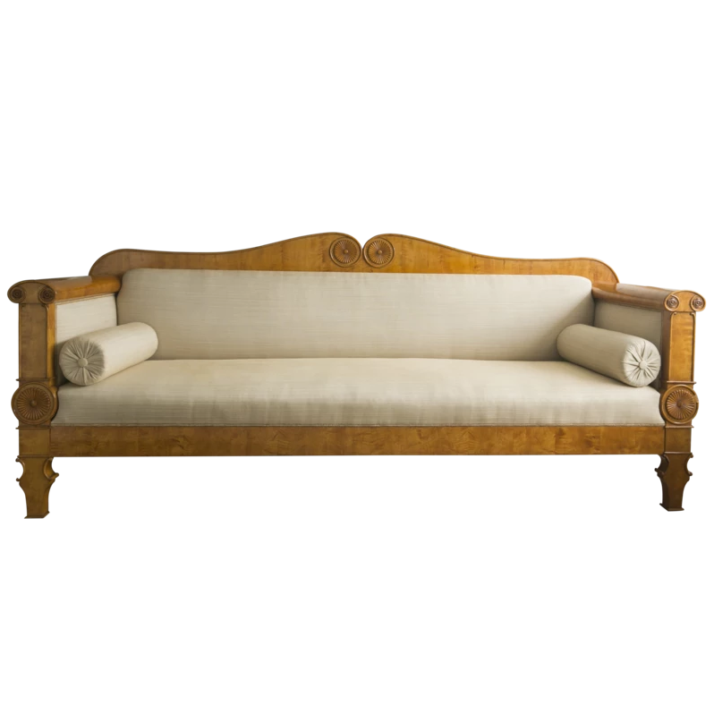 E. 19th C. Swedish Biedermeier Settee