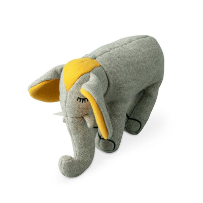Elephant Plush Dog Toy Yellow Eleish Van Breems Home
