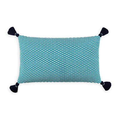 Ella Rectangle Pillow Peacock/Natural Eleish Van Breems Home