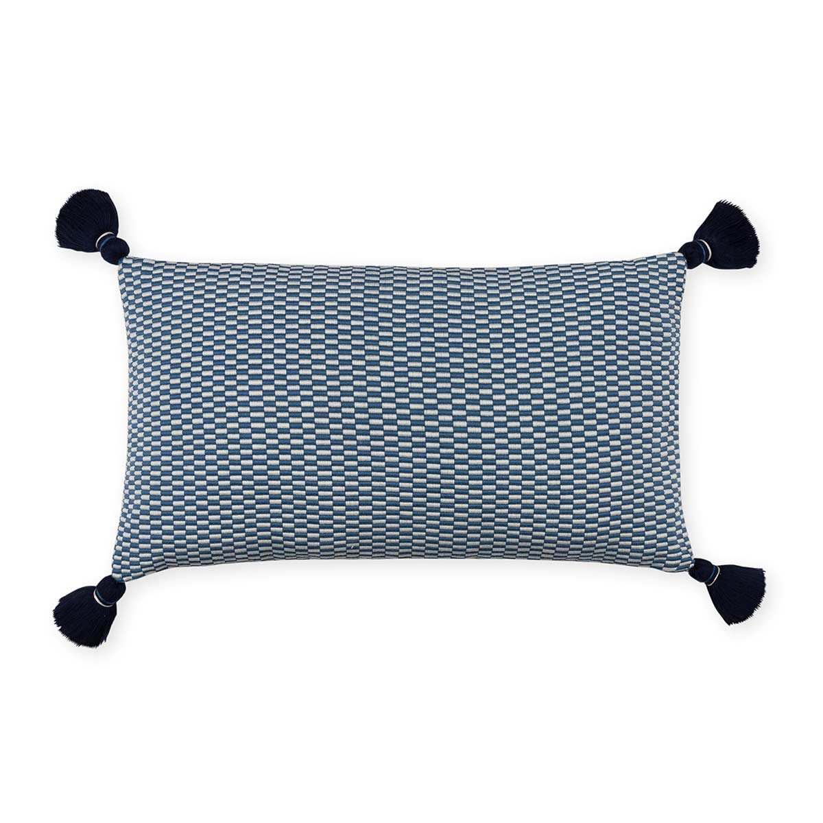Ella Rectangle Pillow Periwinkle/Natural Eleish Van Breems Home