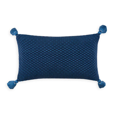 Ella Rectangle Pillow Periwinkle/Navy Eleish Van Breems Home