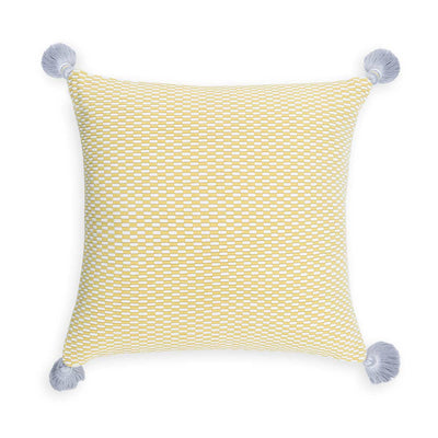 Ella Square Pillow Citrus/Natural Eleish Van Breems Home