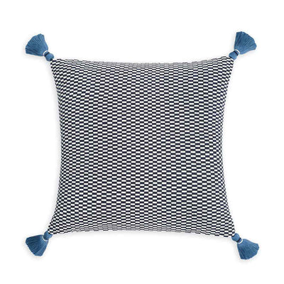 Ella Square Pillow Navy/Natural Eleish Van Breems Home