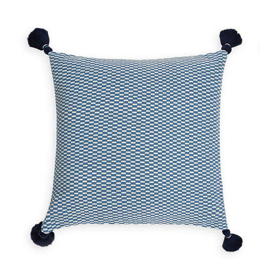 Ella Square Pillow Periwinkle/Natural Eleish Van Breems Home
