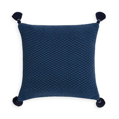 Ella Square Pillow Periwinkle/Navy Eleish Van Breems Home