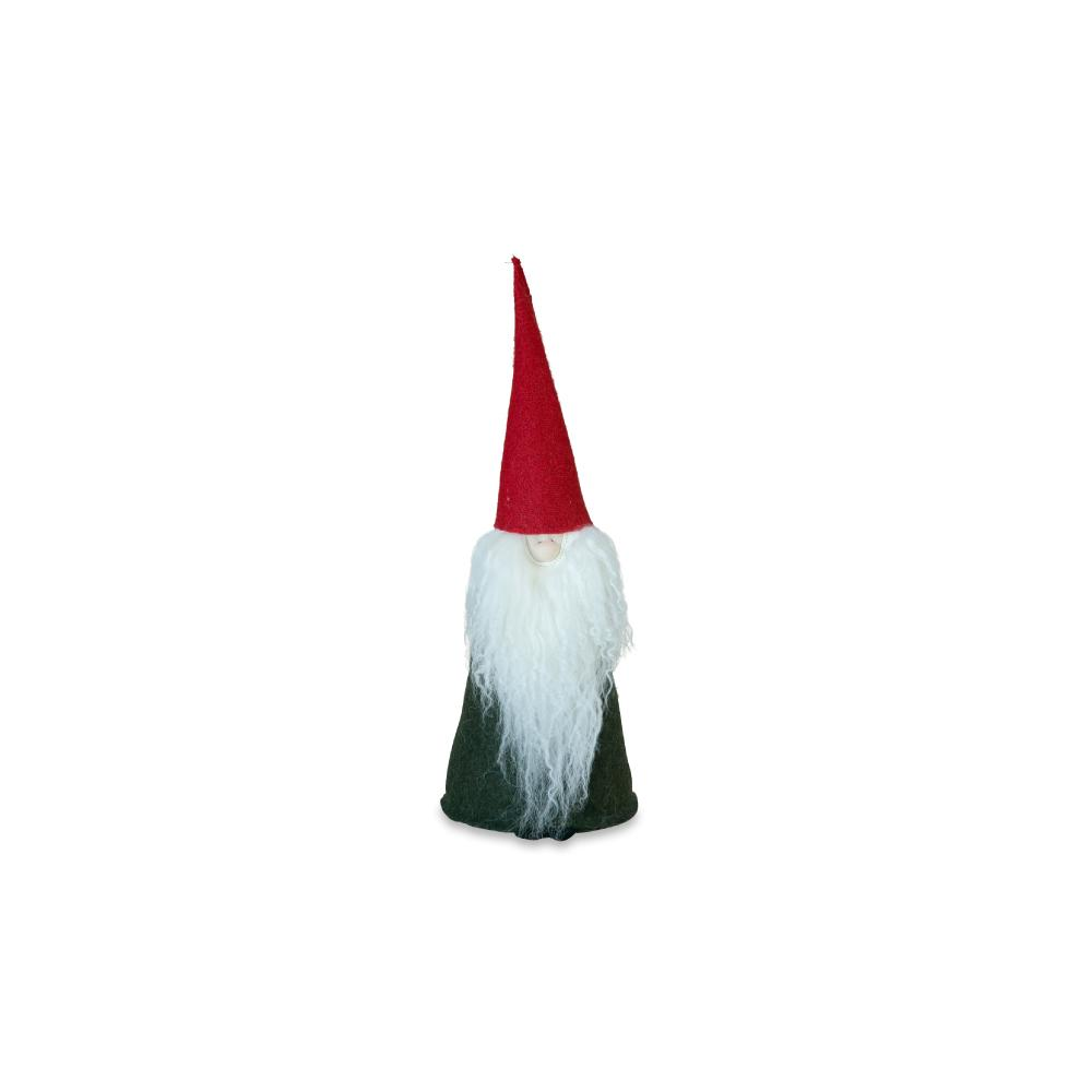 Felt Tomte Red Cap, Dark Grey Body, White Beard X Small Eleish Van Breems Home