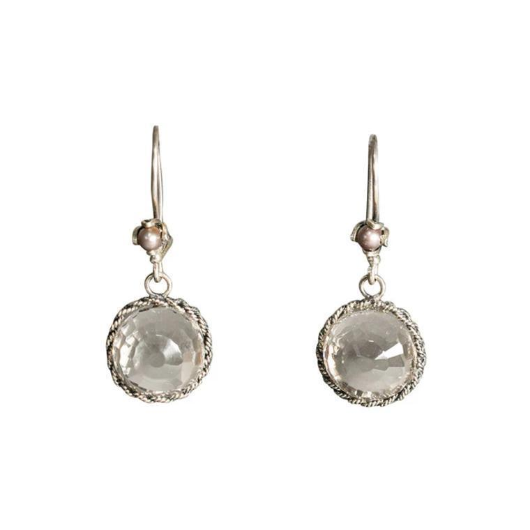 Filigree Clear Drop Earrings Eleish Van Breems Home