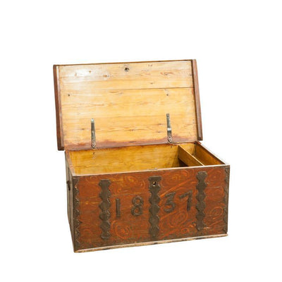 Finnish Folk Trunk with Iron Dating Eleish Van Breems Home