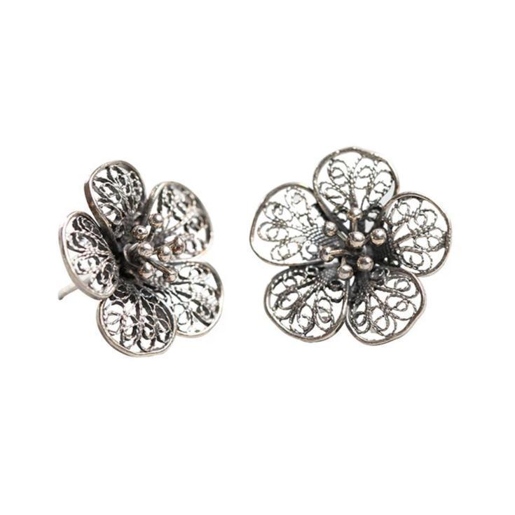 Floral Antiqued Earrings Eleish Van Breems Home