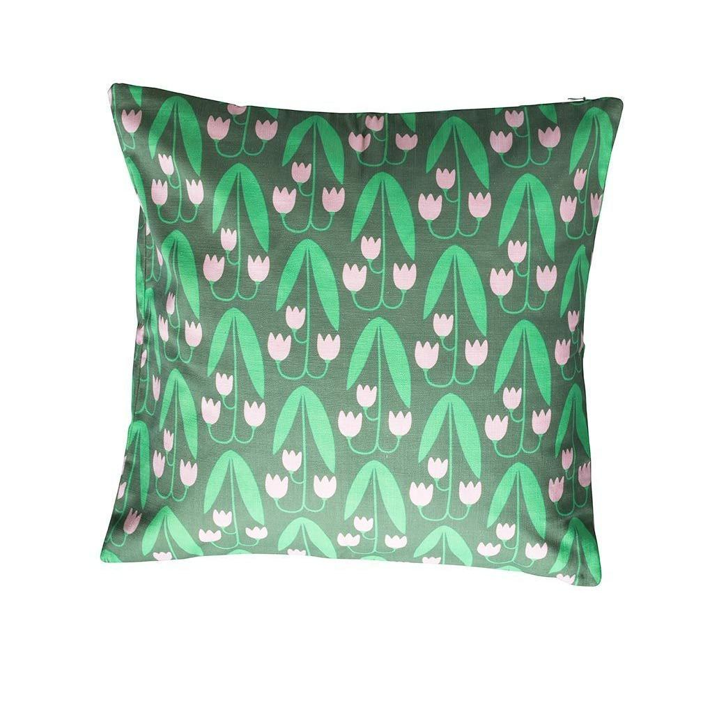 Floral Printed Pillow Green Linnea Eleish Van Breems Home