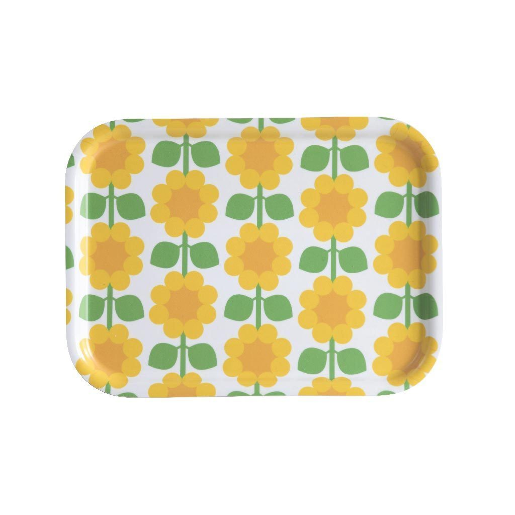 Floral Rectangular Tray