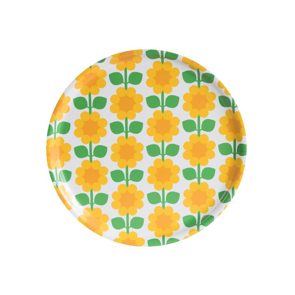 Floral Round Tray