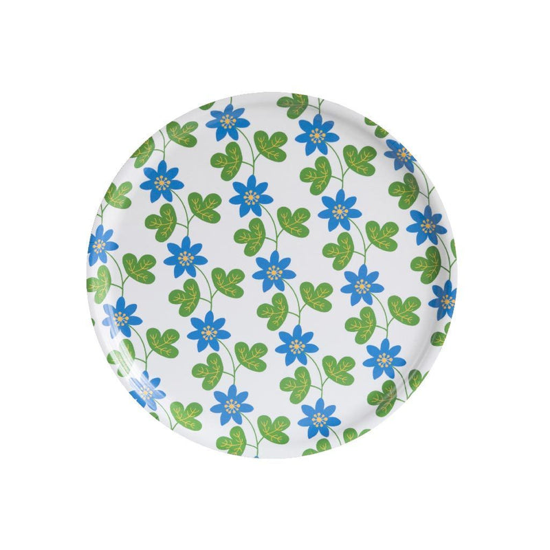 Floral Round Tray Cloudberry Eleish Van Breems Home