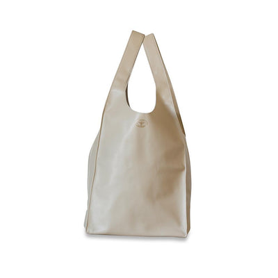 Gigi Leather Tote Bag-Beige-Eleish Van Breems Home
