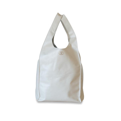 Gigi Leather Tote Bag-Cloud White-Eleish Van Breems Home