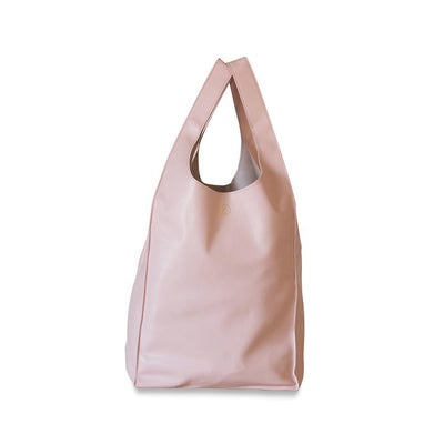 Gigi Leather Tote Bag-Pink-Eleish Van Breems Home