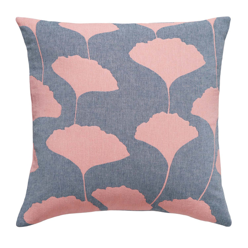Ginkgo Denim Pillow