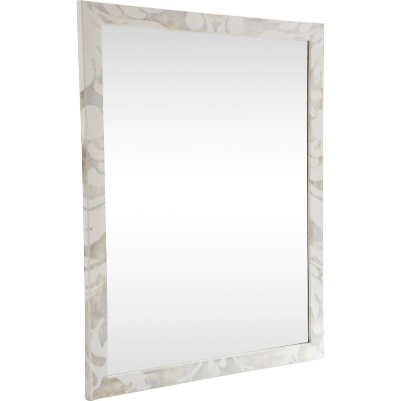 Gold & White Mirror