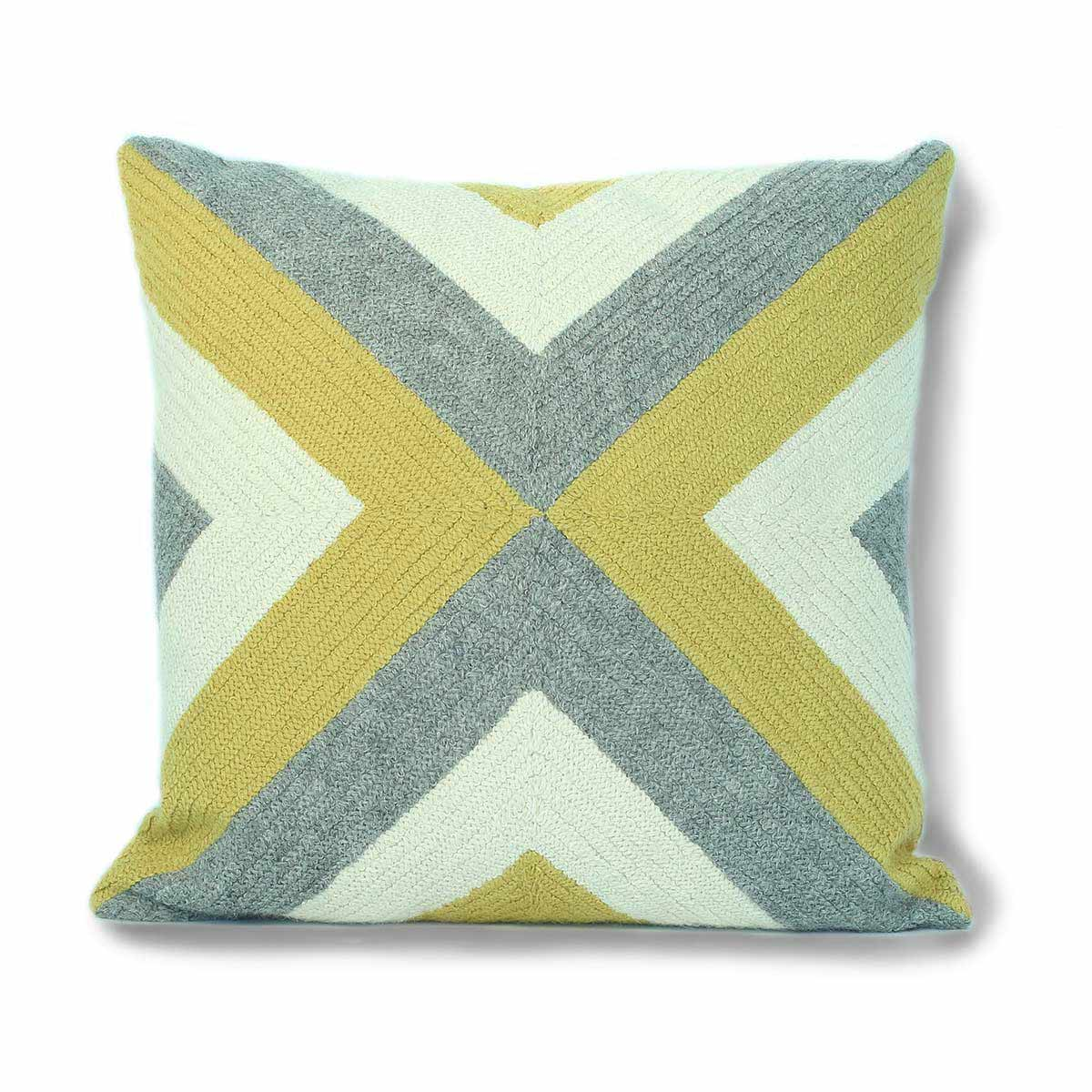 Grinda Square Pillow Citrus/Grey Eleish Van Breems Home