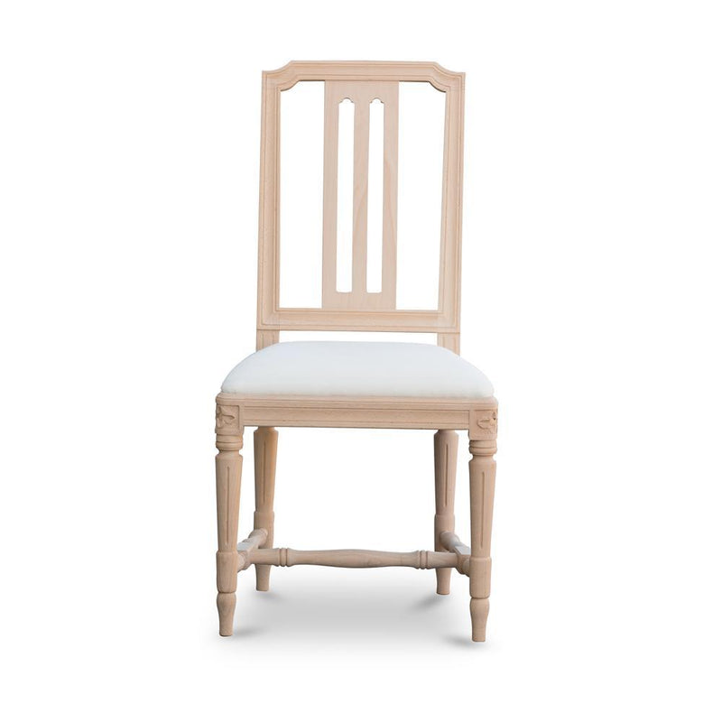 Gullers Gustavian Side Chair Natural Eleish Van Breems Home