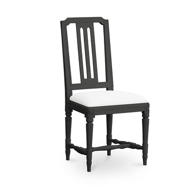 Gullers Gustavian Side Chair-Rococo Black-Eleish Van Breems Home