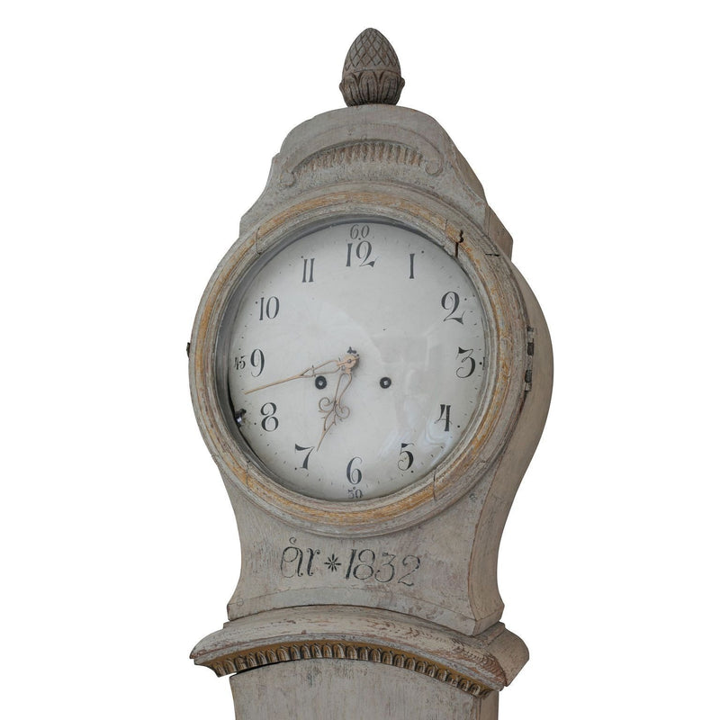 Gustavian Floral Tall Case Clock, early 19th c. Swedish-Eleish Van Breems Home