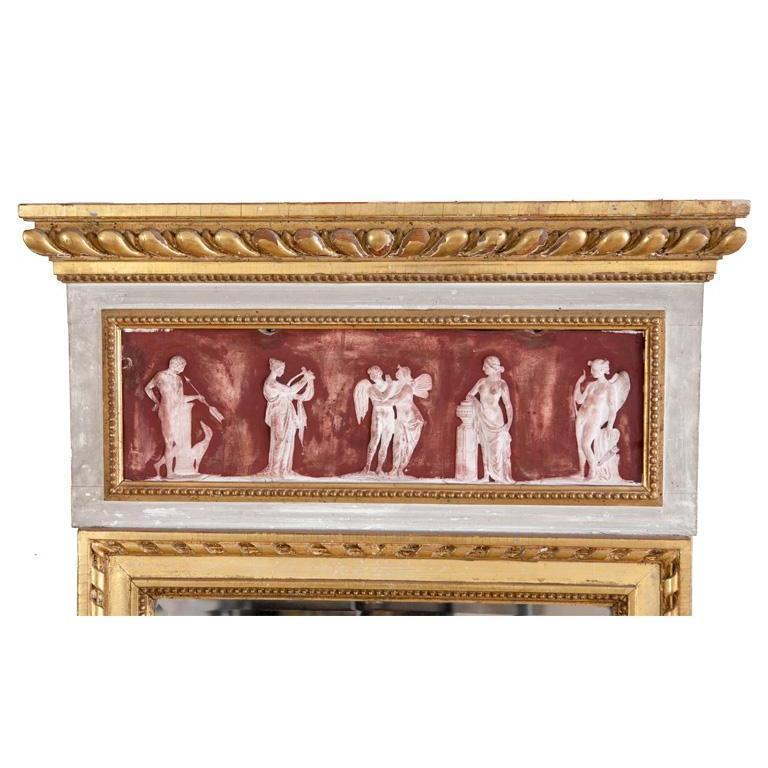 Gustavian Mirror with Grecian Friezes