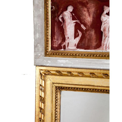 Gustavian Mirror with Grecian Friezes Eleish Van Breems Home
