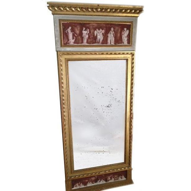 Gustavian Mirror with Grecian Friezes-Eleish Van Breems Home