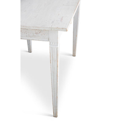 Gustavian Table with Grey Paint Eleish Van Breems Home