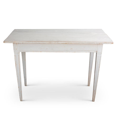 Gustavian Table with Grey Paint