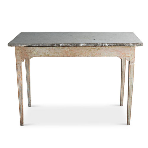 Gustavian Table with Limestone Top