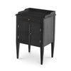 Haga Gustavian Night Table Rococo Black Eleish Van Breems Home