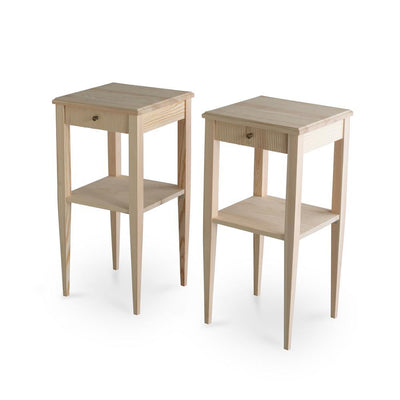 Haga Gustavian Side Table Natural Eleish Van Breems Home