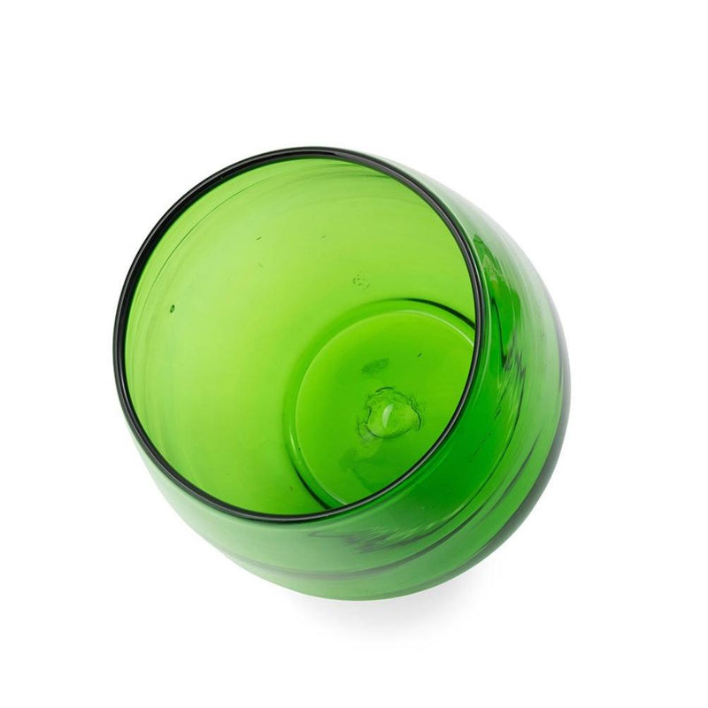 Heavy Weight Italian Blown, Green Glass Vase/ Bowl